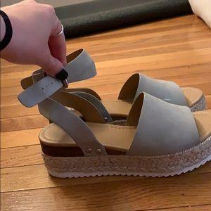 Gray Soda Sandals